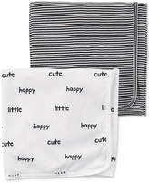 Carter's 2-Pk. Stripes & Print Cotton Swaddle Blankets, Baby Boys