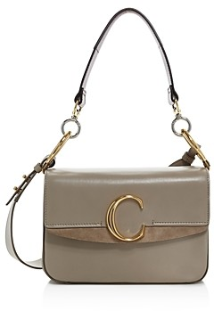 Chloé C Medium Leather Satchel