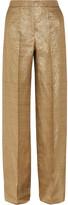 Etro Lamé Wide-leg Pants - Gold