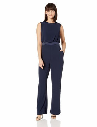 Vince Camuto Women's Sleeveless Satin Back Crepe Jumpsuit