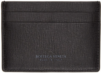 Bottega Veneta Black Leather Card Holder