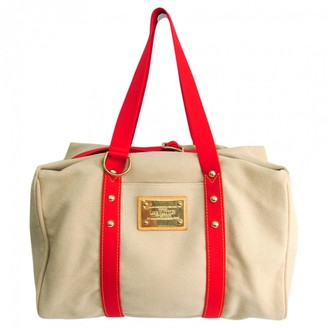 Louis Vuitton Red Cloth Travel bags