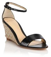 Alexandre Birman Python Espadrille Wedge Sandals
