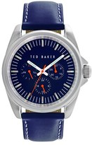 Ted Baker Men's Leather Strap Watch, 42Mm