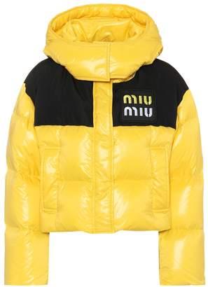 Miu Miu Cropped down jacket
