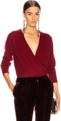 Jonathan Simkhai Cross Front Sweater in Oxblood | FWRD