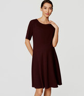 LOFT Maternity Short Sleeve Flare Dress