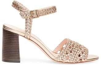 Loeffler Randall Liana Woven Metallic Leather Sandals