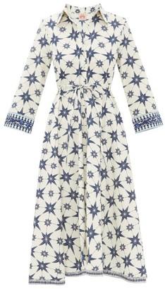 Le Sirenuse Positano Le Sirenuse, Positano - Lucy Positano-print Cotton-poplin Dress - Blue Print