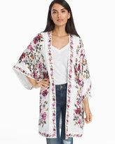 White House Black Market Floral Printed Kimono