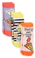 Tucker + Tate Girl's Patch Assorted 3-Pack Crew Socks