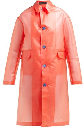 Undercover Logo-print Plastic Raincoat - Red