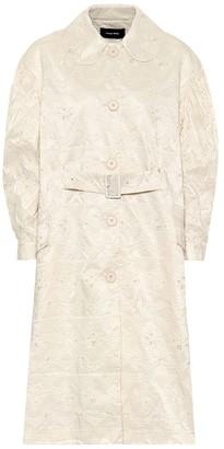 Simone Rocha Lace-taffeta duster coat