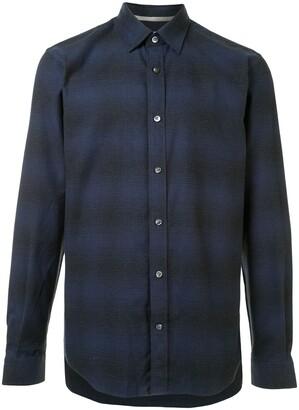 Gieves & Hawkes Long Sleeved Check Shirt