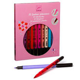 Djeco NEW Felt Brush Set 10pce Pretty Colours