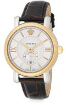 Versace Urban Gent Goldtone Stainless Steel & Embossed Leather Watch