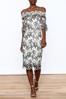 Mystic Lace Off Shoulder Dress