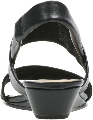Clarks Sense Lily Wedge Sandals - Black