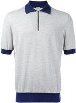 Malo contrast collar polo shirt - men - Silk/Cotton - 50