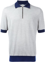Malo contrast collar polo shirt