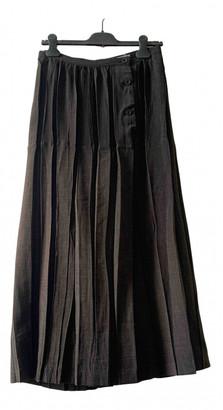 Issey Miyake Brown Wool Skirts
