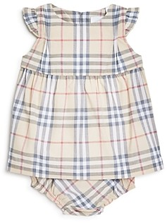 Burberry Girls' Reanne Vintage Check Dress & Bloomers Set - Baby