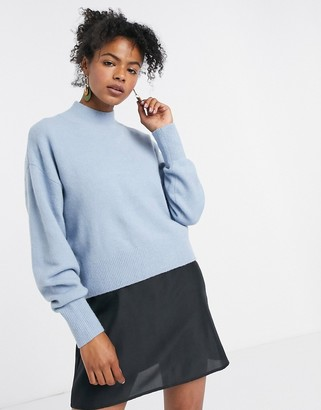 And other stories & high neck jumper in blue
