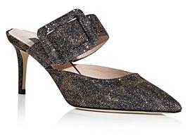 Sarah Jessica Parker Women's Modish Glitter High Heel Slide Sandals