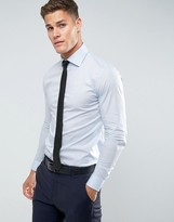 Reiss Slim Smart Shirt With Classic Collar