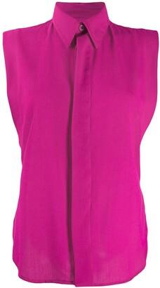 AMI Paris Concealed Fastening Sleeveless Shirt