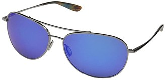 Kaenon Driver (Gunmetal/Blue Tortoise/Pacific Blue Mirror) Athletic Performance Sport Sunglasses