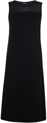 DKNY Sleeveless Mesh Dress