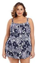 Plus Size Upstream Hip Minimizer Tiered Swimdress