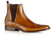 J By Jasper Conran Designer Tan Leather Brogue Chelsea Boots