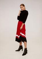 MANGO Stripes pleated skirt red - XS - Women