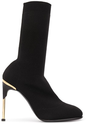 Alexander McQueen Stiletto Heeled Knitted Boots