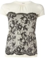Ungaro lace jacquard top - women - Wool - M