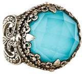 Konstantino Rock Crystal Quartz & Turquoise Doublet Ring