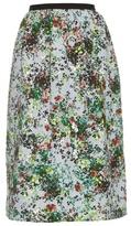 Erdem Lizzie Field Flower-print gathered-waist skirt