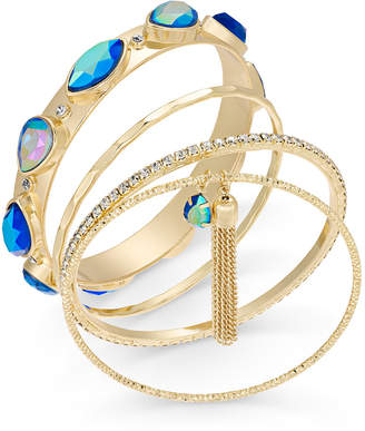 Thalia Sodi Gold-Tone 5-Pc. Set Crystal, Stone & Tassel Bangle Bracelets