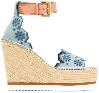 See by Chloe Open Toe Platform Sandals