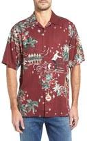 Tommy Bahama Merry Kitchmas Original Fit Print Silk Camp Shirt