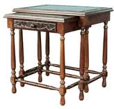 Traditional Wood Cedar Nested Tables (Pair), 'Classic Duo'