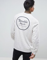 Brixton Sweatshirt With Back Wheeler Print