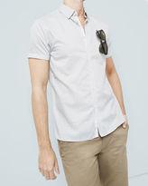 TRINI Geo print cotton shirt