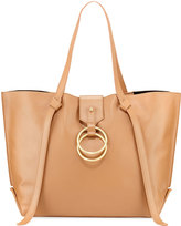 Badgley Mischka Campaign Leather Tote Bag