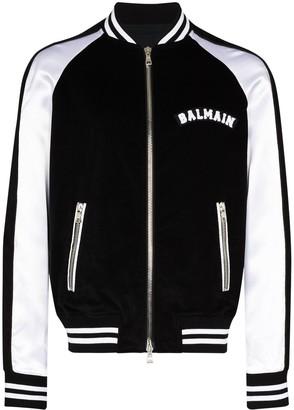 Balmain Logo-Appliqued Bomber Jacket