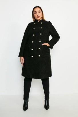 Karen Millen Curve Boucle Double Breasted Coat