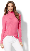 New York & Co. Ribbed-Knit Turtleneck Sweater