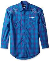 Wrangler Men's Logo Two Pocket Long Sleeve Woven Shirt